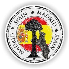 Spain Madrid Stamp Bumper Sticker Decal for Car Laptop Tablet Door