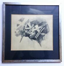 CHARLES BRAGG Guaranteed Original CHARCOAL & GRAPHITE SKETCH on Paper Provenance