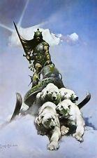 SILVER WARRIOR Frank Frazetta Vintage Art 1972 Full Color Plate Fantasy Sci-Fi