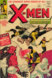 X-MEN #1 (Marvel, 1963) Vintage Comic Cover Poster Art