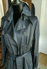 NEW Women Ralph Lauren Blue Label $598 Navy Waterproof Trench Coat 8