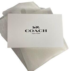 "Coach Paper box and tissue paper new COACH  10"" X 2.5"""