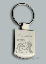 Personalised EROTIC AQUARIUS zodiac Design keyring BOXED engraved Free