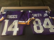 Stefon Diggs & Irv Smith Jr Autographed XL Custom Vikings Jersey's - TSE/JSA