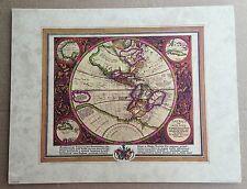 Weltkarte Antik Mittelalter Historische Weltkarte  28x36 Kunstdruck India Nova