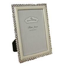 Photo Picture Frame Silver White Frame Glass Glitter Standing Frame Bling 18x13