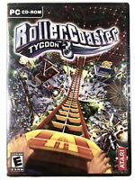 BRAND NEW / SEALED / FREE SHIPPING🔥 Roller Coaster Tycoon 3 PC CD-ROM, Atari