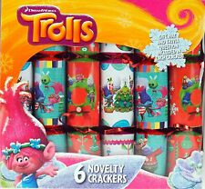 Set Of 6 Trolls Party Table / Christmas Crackers (ES460)