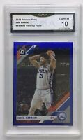 2019-20 DONRUSS OPTIC BLUE VELOCITY JOEL EMBIID GMA 10 Gem Mint Philadelphia 76