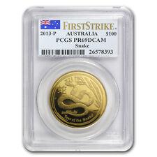 2013 1 oz Gold Lunar Year of the Snake PR-69 PCGS (SII, FS) - SKU #85728