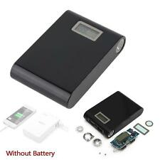12000mah Dual USB 5V Power Bank 18650 Battery Charger Case For Phone - Black ZH