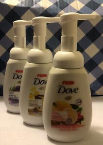 3 PK VARIETY DOVE FOAMINGHAND WASH- Warm Vanilla, Lavender and Lemon 6.8oz each