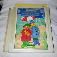 Vintage 1984 Childrens Television Workshop Sesame Street Flash Cards