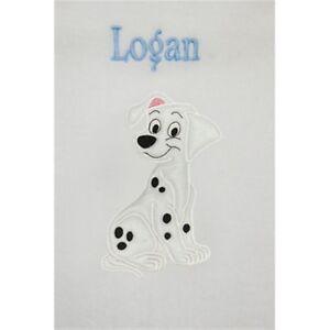 101 Dalmatians Puppy Personalised & Applique Super Soft Fleece Baby Blanket