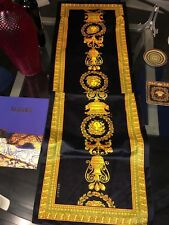 "$600 TABLE COVER RUNNER VERSACE MEDUSA Cloth cover 127"" Luxury NEW in BAG"