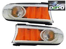 2007-2013 Toyota FJ Cruiser Park Signal Front Bumper Lights CHROME DEPO