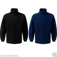 MENS LADIES WOMENS UNISEX PADDED FLEECE ANTI PILL QUILTED WARM ZIP JACKETS SIZE