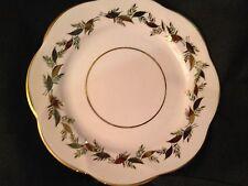 "Salisbury English Bone China 8"" Plate w/Gold Leaves, Scalloped Gold Trim"
