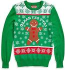 Men's Ugly Christmas Sweater, Baked/Green, Size X-Large 0CmP