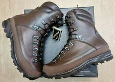 More details for british army sf issue brown cold wet weather leather goretex boots size 10m uk