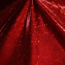 RED METALLIC HOLOGRAM SPANDEX LYCRA FABRIC $13.99/YARD