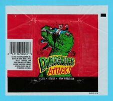 BUBBLE  GUM  WRAPPER  -  TOPPS  U.S.A. -  DINOSAURS  ATTACK   (B)  -  1988