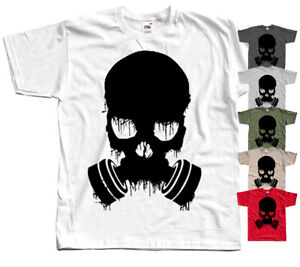 Gas mask skull on dark GAME T-Shirt RED KHAKI OLIVE GRAPHITE All sizes S-5XL