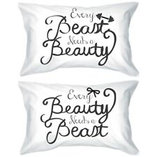 His and Hers Matching Pillowcases - Beauty and Beast Romantic Pillowcase Designs