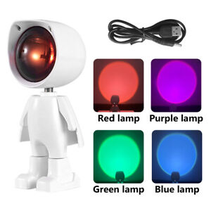 Projector Atmosphere LED Night Lamp Home Coffee Shop Background Wall Decor A7D2