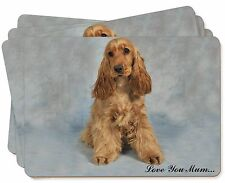 Red Cocker Spaniel 'Love You Mum' Picture Placemats in Gift Box, AD-SC6lymP