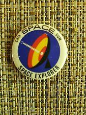 Chix Gum Space Explorer Pin Badge Vintage 1960's