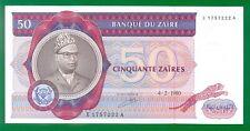 CONGO / Zaire 50 Zaires 1980 P25a  UNC