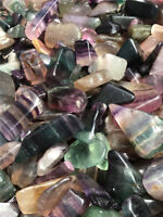 FLUORITE 20-70mm Rainbow, blue, purple, etc. tumbled 1/2 lb bulk stones