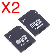 2X SD Card Micro SD TF to SD SDHC Memory Card Adapter.