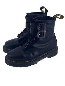 Dr. Martens Black leather Boots Size 8 US  1460 ALT Side Zip Buckle