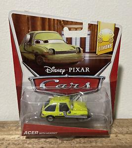 Disney Pixar Cars 2 Acer With Headset Lemons Rare!