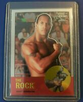 2007 Topps Chrome WWE Heritage Dwayne Johnson THE ROCK #10 RARE WRESTLING