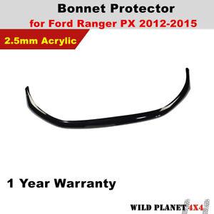 Bonnet Protector fits Ford Ranger PX1 MK1 05/2012-2015 Tint Guard Black