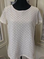 Coldwater Creek Women's Size Medium 10-12 Ivory Lace Top GUC!