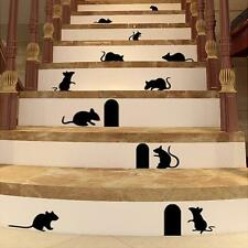 MOUSE HOLES & MICE CAT STICKER STAIRS VINYL DECAL ART GRAPHIC ANY ROOM WALL