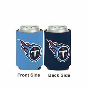 Licensed Football 2 Sided 12 oz Tennessee Titans Can Cooler Collapsible Koozie