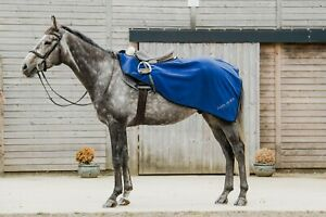 Dark Horse Fleece Exercise Sheets Pony Cob Full Royal Blue Fast & Free Delivery