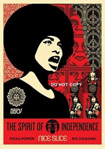 SHEPARD FAIREY OBEY A4 GLOSSY PRINT PHOTO USA THE SPIRIT OF INDEPENDENCE #10