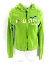 HOLLISTER Para Mujer Chaqueta Con Capucha XS verde de algodón y poliéster
