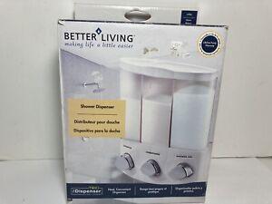 Better Living TRIO 3-Chamber Soap Shower Dispenser