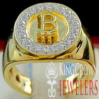Jesus Face Ring 14K Yellow Gold Finish Simulated Diamond Holy Head Mens Band