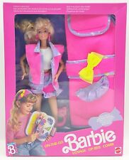 1990 ON THE GO BARBIE WITH FASHION STICK-ONS NRFB