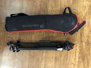 Manfrotto 055 tripod + MVH500AH head + MBAG80PN padded tripod bag. MINT