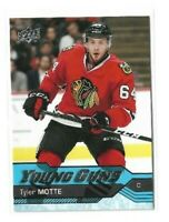 2016-17 UPPER DECK #216 TYLER MOTTE YG RC UD YOUNG GUNS ROOKIE