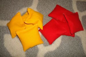 """SET OF 8 MINIATURE 3"""" X 3"""" CORNHOLE BAGS - 19 COLORS TO PICK FROM"""